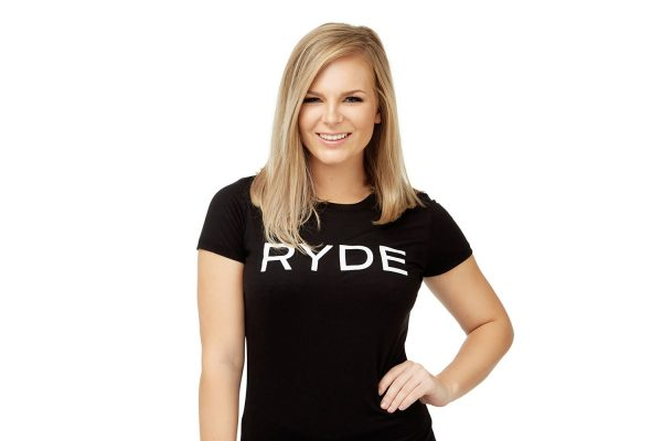 Ashley at RYDE spin class studio in Houston, Texas